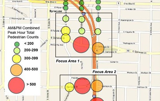 Fig 22 Pedestrian Count Locations